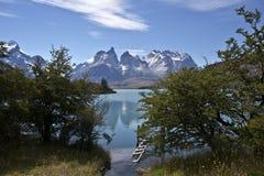 Parque nacional de Torres del Paine, Patagonia, o Chile Imagens de Stock