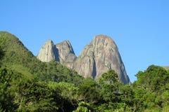 Parque nacional de Tres Picos, el Brasil Foto de archivo