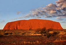Parque nacional de Uluru - de Kata Tjuta Foto de archivo