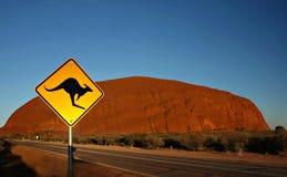 Parque nacional de Uluru - de Kata Tjuta Imagens de Stock Royalty Free