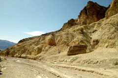 Parque nacional de Vale da Morte da garganta dourada Imagem de Stock