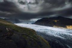 Parque nacional de Vatnajokull, uno de tres parques nacionales en Islandia imágenes de archivo libres de regalías