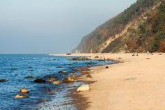 Parque nacional de Wolin - praia imagem de stock