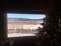 Parque nacional de Wyoming durante la Navidad Fotografía de archivo