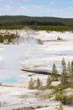 Parque nacional de Yellowstone da bacia da porcelana imagens de stock