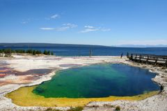 Parque nacional de Yellowstone, EUA Imagens de Stock Royalty Free