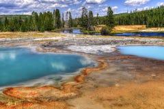 Parque nacional de Yellowstone, Wyoming, los E Imagen de archivo