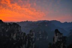 Parque nacional de Zhangjiajie en Hunan, China Imágenes de archivo libres de regalías
