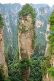 Parque nacional de Zhangjiajie en Hunan, China Foto de archivo