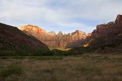 Parque nacional de Zion Fotos de archivo