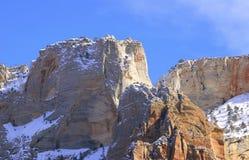 Parque nacional de Zion - altar de la montaña del sacrificio Fotografía de archivo libre de regalías