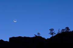 Parque nacional de Zion do Moonrise Fotografia de Stock