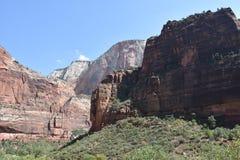 Parque nacional de Zion en Utah Fotos de archivo libres de regalías
