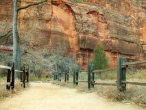 Parque nacional de Zion en Utah foto de archivo libre de regalías