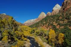 Parque nacional de Zion, Utah Foto de archivo