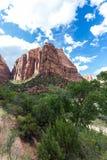 Parque nacional de Zion, Utah, los E Imagen de archivo libre de regalías
