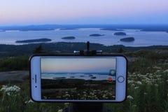 Parque nacional del Acadia en Maine Imagen de archivo