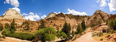 Parque nacional del barranco de Zion, Utah Imagen de archivo