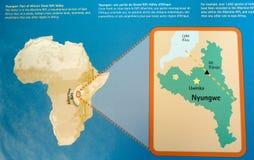 Parque nacional del bosque de Nyungwe Foto de archivo libre de regalías