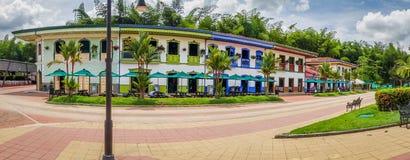 PARQUE NACIONAL del CAFÉ, COLOMBIA, español blanco Imagen de archivo