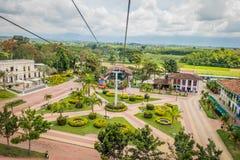 PARQUE NACIONAL del CAFÉ, COLOMBIA, vista hacia abajo a Foto de archivo libre de regalías