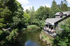 Parque nacional del destino de Cumbria del pueblo de Grasmere del distrito inglés turístico popular británico del lago Imagen de archivo