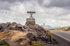 Parque nacional del EL Diablo - de Timanfaya Fotos de archivo libres de regalías