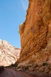 Parque nacional del filón del capitolio, Utah, cielo azul Fotos de archivo