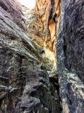Parque nacional del filón del capitolio, Utah, los E Juventud del adolescente del lavado que sube de la garganta magnífica del al Foto de archivo