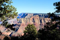 Parque nacional del Gran Cañón en Arizona foto de archivo