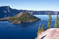 Parque nacional del lago crater fotos de archivo