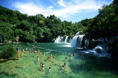 Parque nacional del río de Krka en Croacia imagenes de archivo