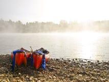 Parque nacional del río y de Canadá banff de la canoa Foto de archivo libre de regalías