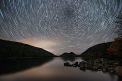 Parque nacional do Acadia da fuga da estrela no outono foto de stock royalty free