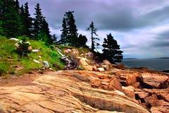 Parque nacional do Acadia, Maine imagem de stock