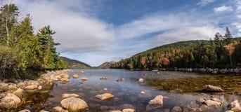 Parque nacional do Acadia no outono imagem de stock