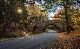 Parque nacional do Acadia no outono fotografia de stock royalty free