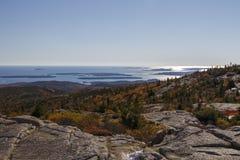 Parque nacional do Acadia no porto da barra, EUA, 2015 Fotografia de Stock Royalty Free