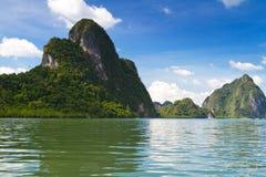Parque nacional do Ao Phang Nga Fotografia de Stock Royalty Free