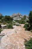 Parque nacional do EL Torcal, Spain. Foto de Stock Royalty Free