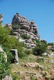 Parque nacional do EL Torcal, Spain. Fotos de Stock Royalty Free