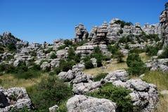 Parque nacional do EL Torcal, Spain. Imagem de Stock