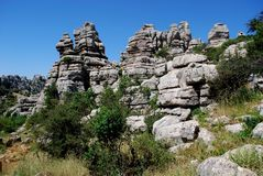 Parque nacional do EL Torcal, Spain. Fotografia de Stock Royalty Free