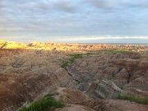 Parque nacional do ermo no por do sol imagem de stock