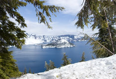 Parque nacional do lago crater Fotografia de Stock Royalty Free