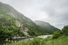 Parque nacional do rio de Malbaie Fotografia de Stock Royalty Free