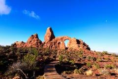 Parque nacional dos arcos, arco da torreta, Moab, Foto de Stock Royalty Free