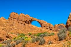 Parque nacional dos arcos em Moab Utá fotos de stock royalty free