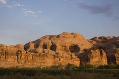 Parque nacional dos arcos no por do sol Fotos de Stock Royalty Free