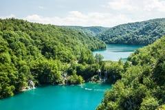 Parque nacional dos lagos Plitvica imagem de stock